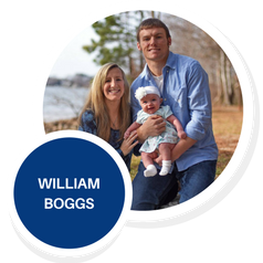 William Boggs with his wife Mariah and their child, Elizabeth Grace.